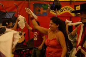 Handkerchief dance - joining in