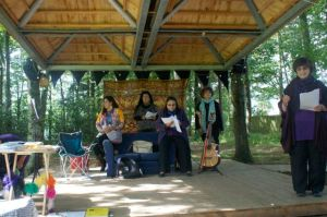 Poets on the Woodland Pavilion stage