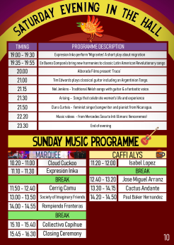 11 - SATURDAY EVENING & SUNDAY MUSIC